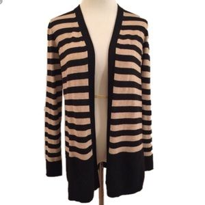 NWOT LOFT Striped Open Front Cardigan!
